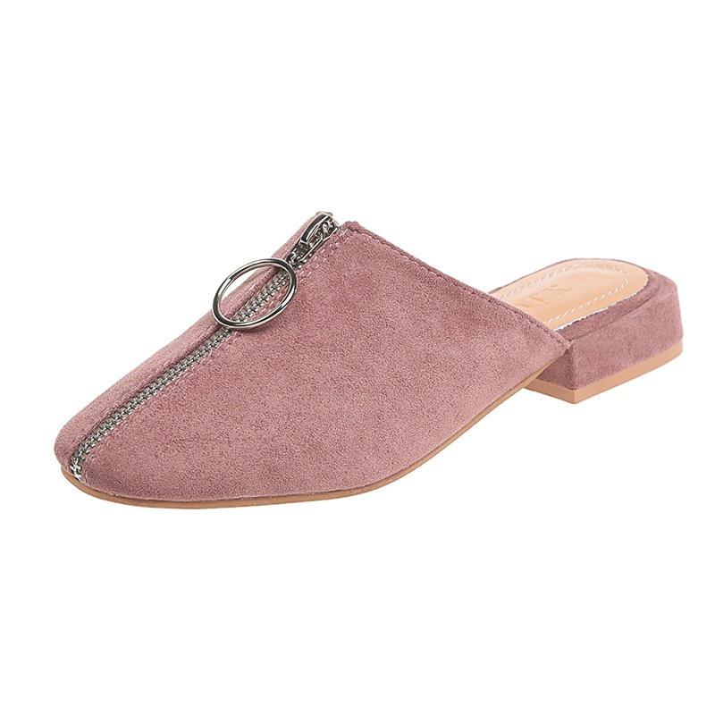 Ericdress Closed Toe Zipper Slip-On Casual Slippers