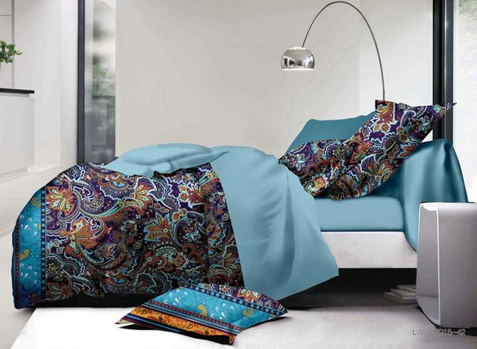 Esthetical Jacobean Pattern Print 4-Piece Polyester Duvet Cover Sets