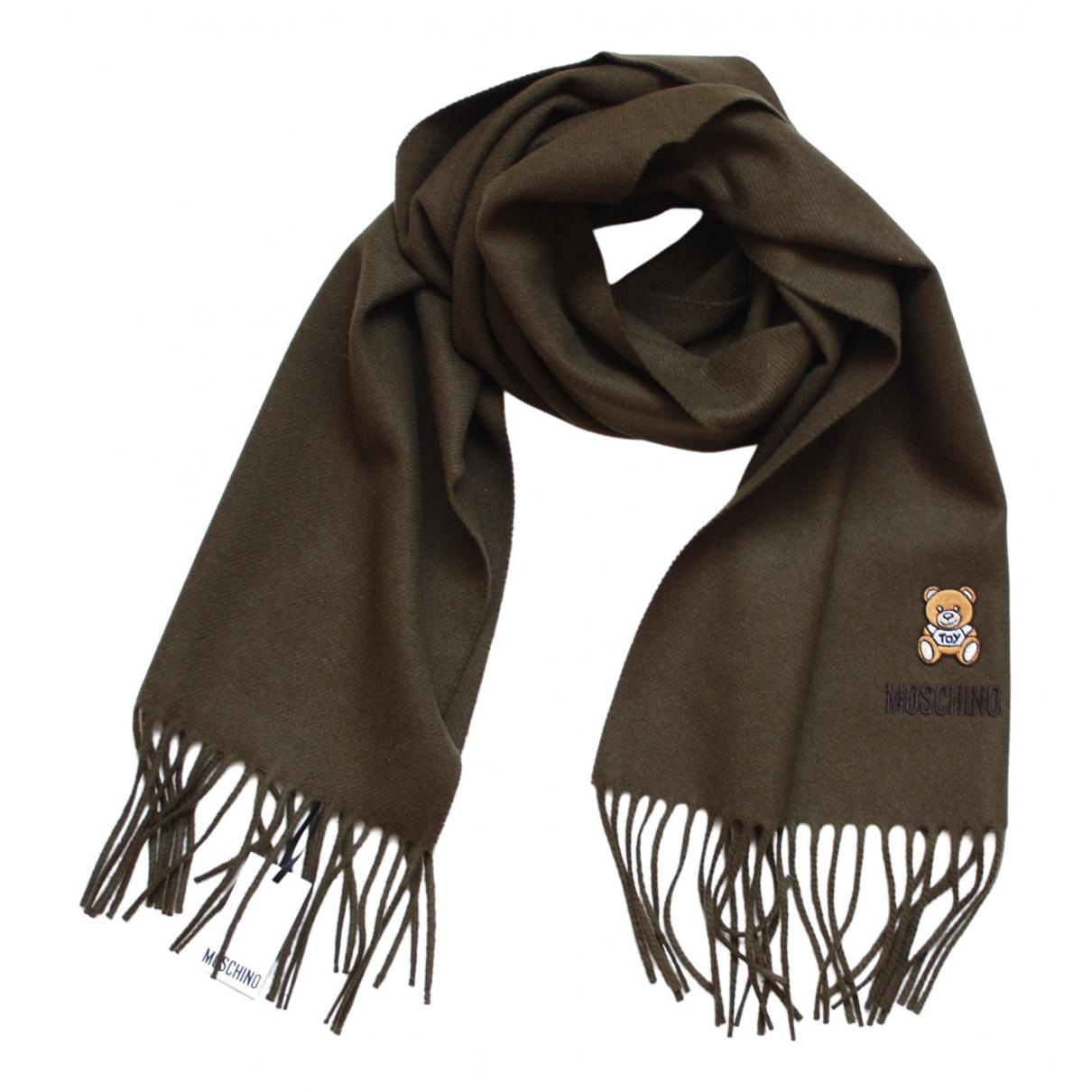 Moschino \N Schal in  Khaki Wolle