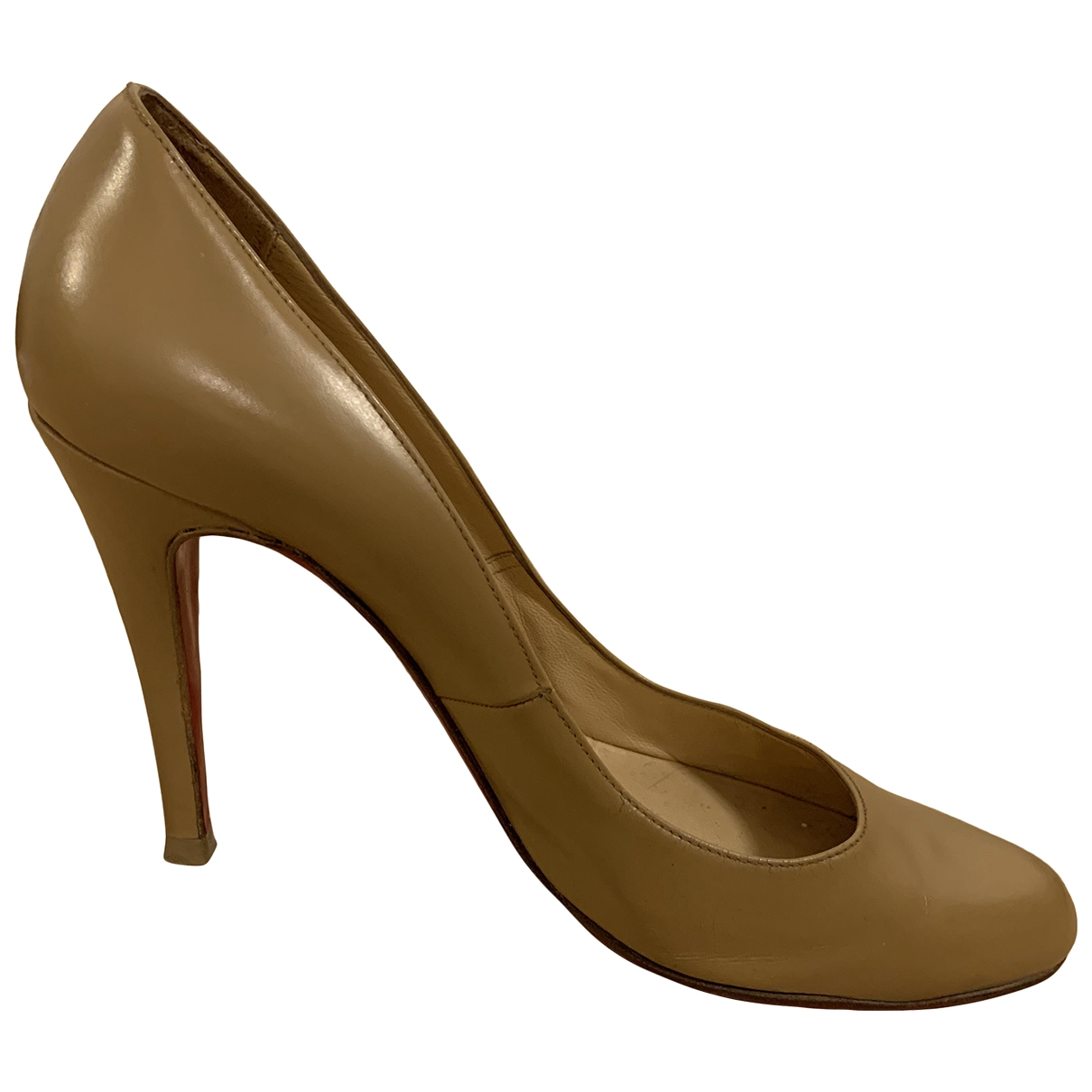 Christian Louboutin \N Brown Leather Heels for Women 39.5 EU