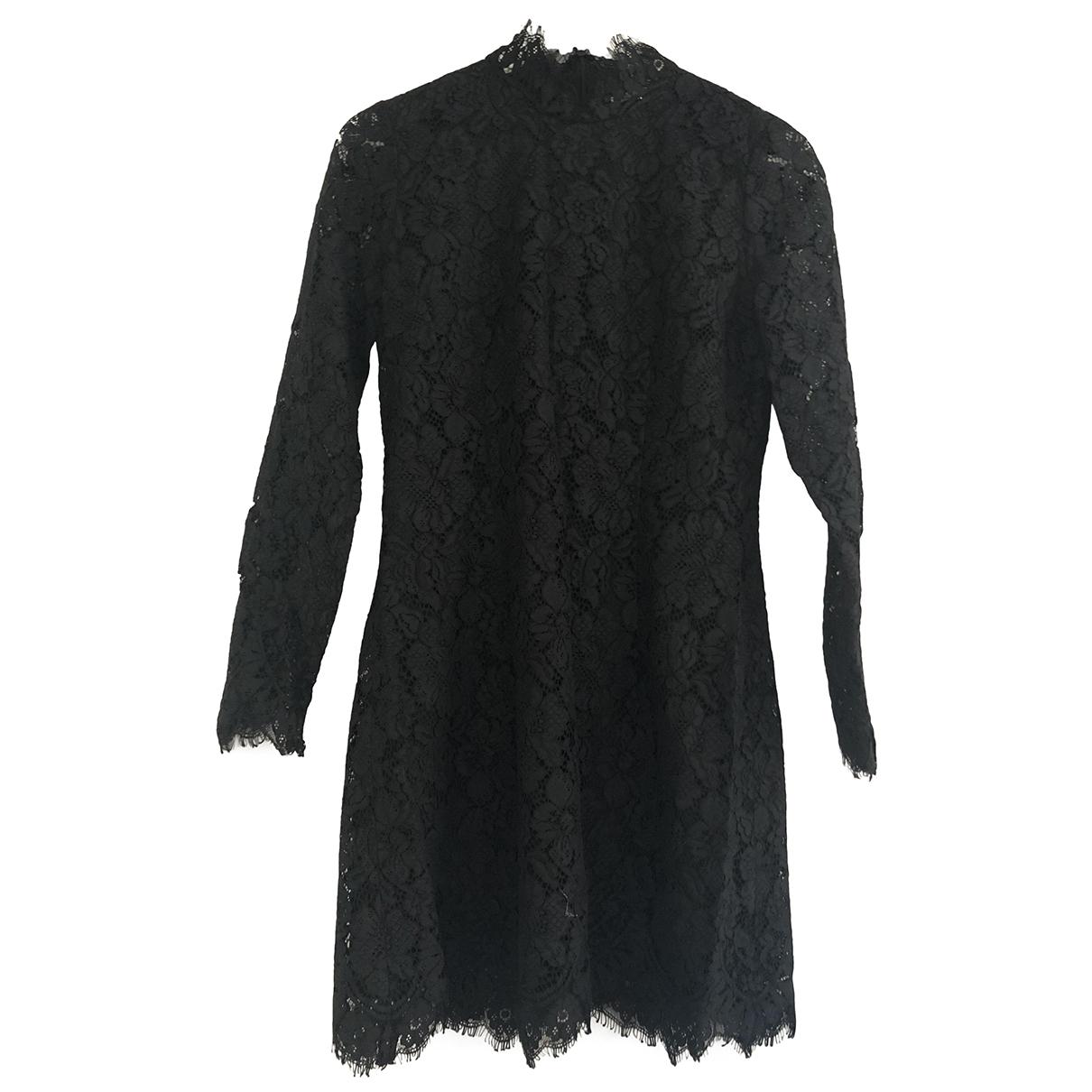 Ganni - Robe   pour femme en dentelle - noir