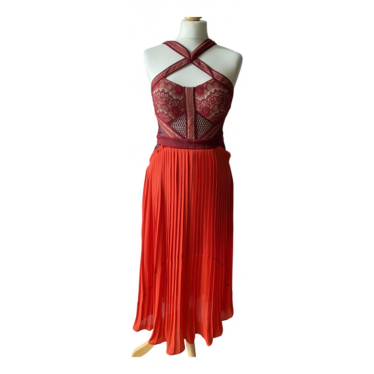 Three Floor Fashion \N Kleid in  Bordeauxrot Spitze