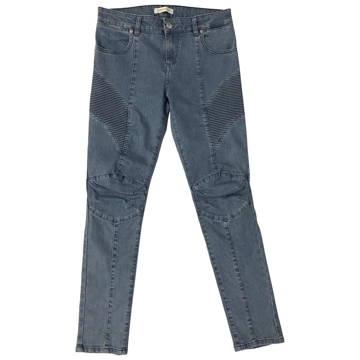 Pierre Balmain \N Blue Cotton - elasthane Jeans for Women 30 US