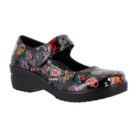 Easy Works By Easy Street Womens Letsee Mary Jane Shoes, 9 Wide, Black