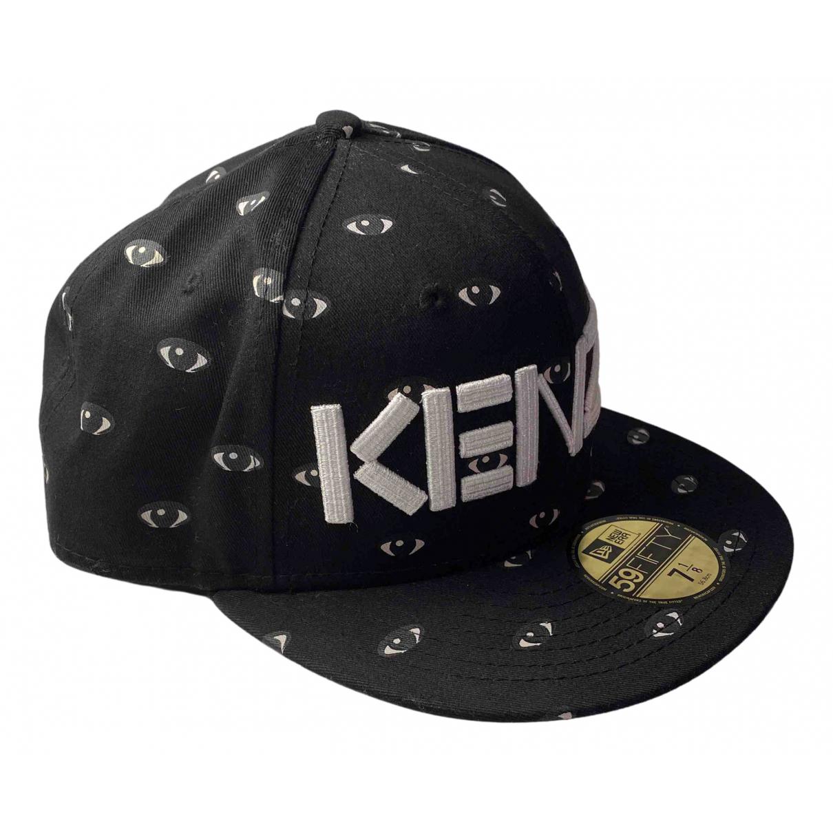 Kenzo - Chapeau & Bonnets   pour homme en toile - noir
