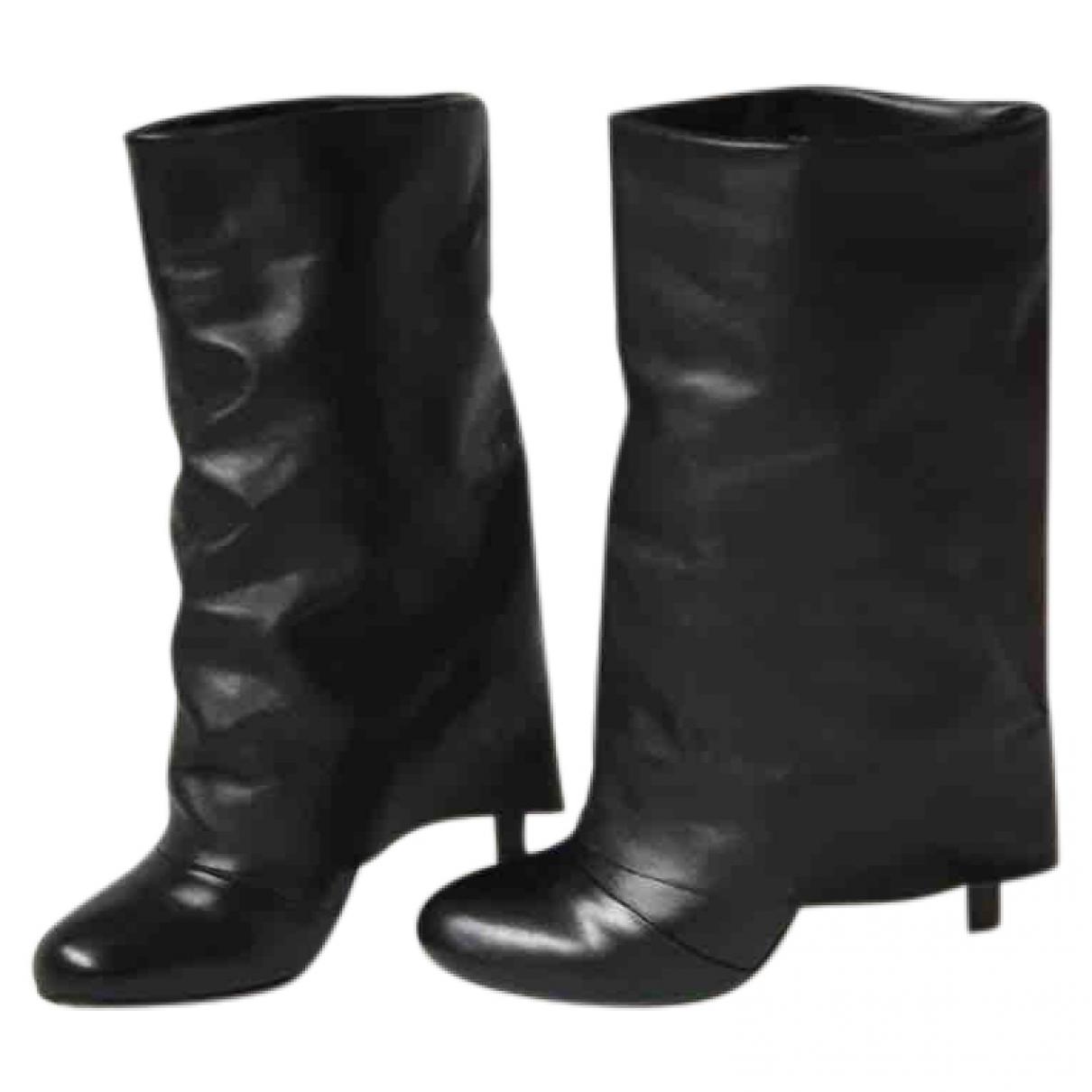 See By Chloe - Bottes   pour femme en cuir - noir
