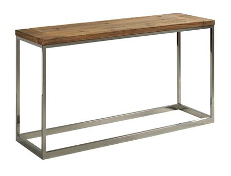Dundee Collection 961-925 SOFA TABLE in Natural Pine and Stainless