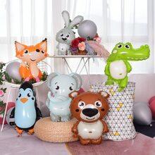 6 piezas globo en forma de animal