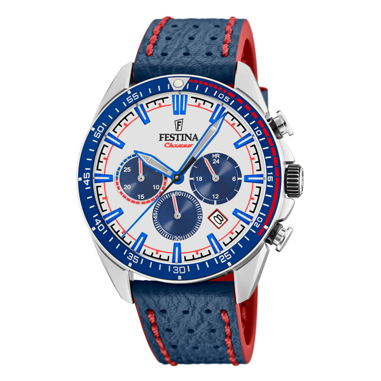 Festina Men's The Originals F20377-1F37 White Leather Quartz Fashion Watch