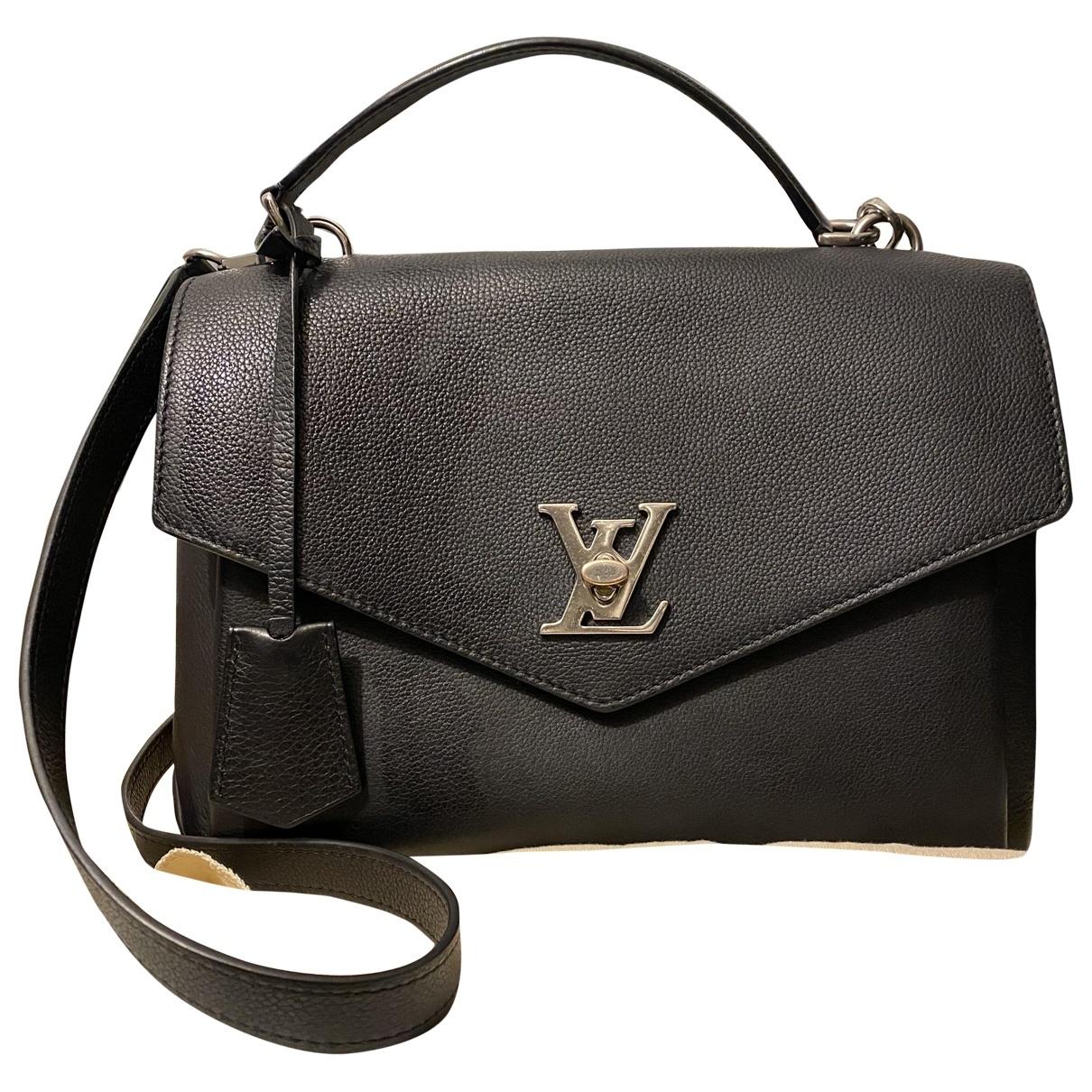 Louis Vuitton Mylockme Handtasche in  Schwarz Leder