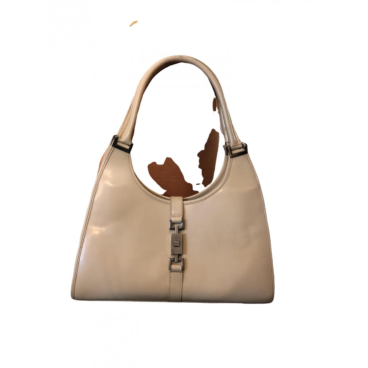Gucci - Sac a main Jackie Vintage  pour femme en cuir verni - beige