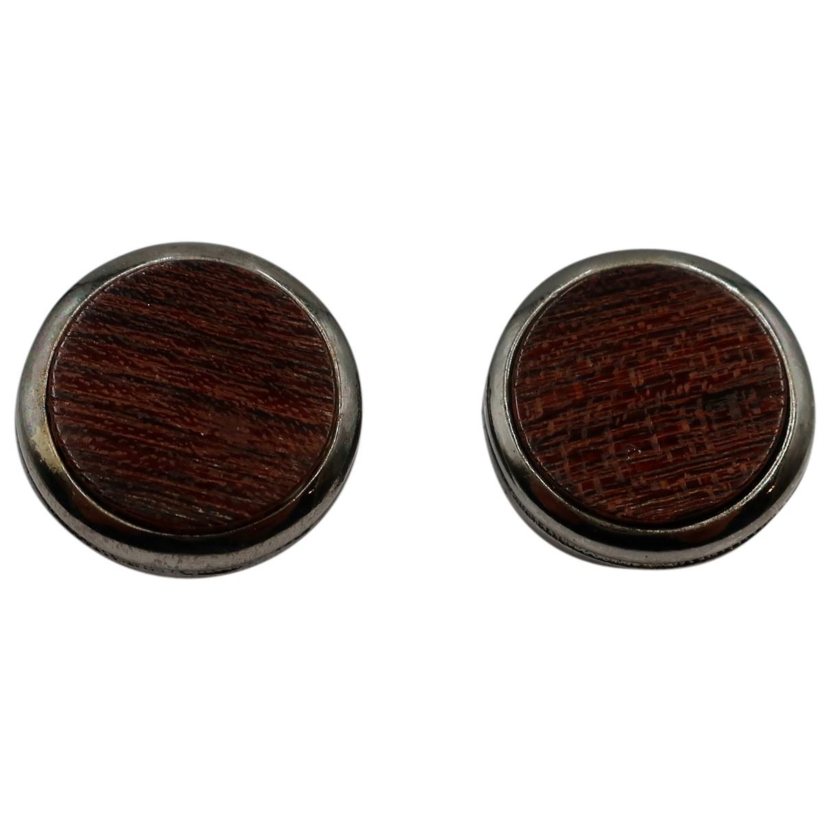 Yves Saint Laurent - Boucles doreilles   pour femme en bois - marron