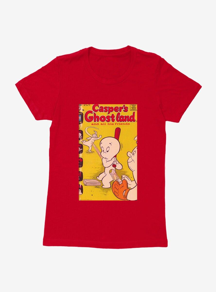 Casper The Friendly Ghost Ghostland And Friends Baseball Womens T-Shirt