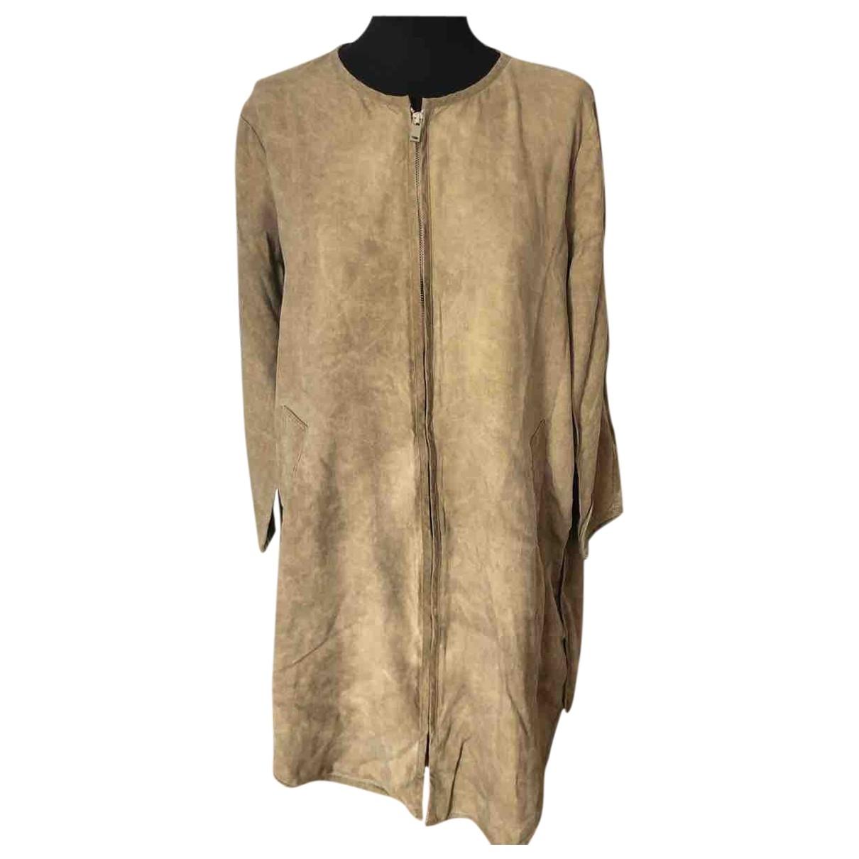 Zara \N Camel Linen dress for Women S International