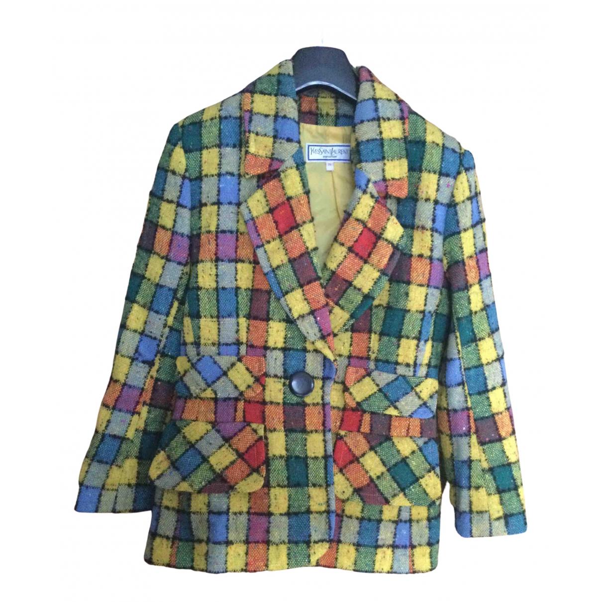 Yves Saint Laurent N Multicolour Wool jacket for Women 38 FR