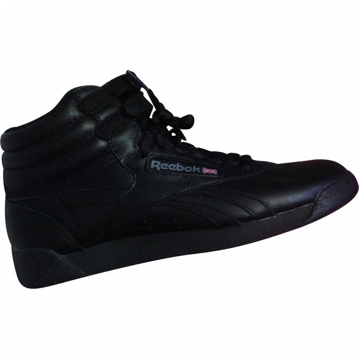 Reebok \N Black Leather Trainers for Women 37 EU