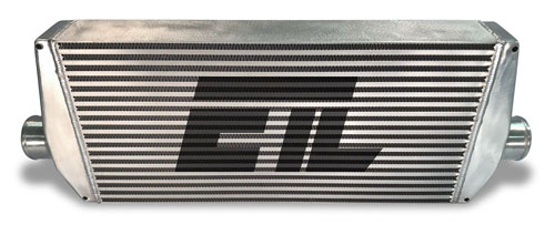33.00 Inch W 12.00 Inch H 3.50 Inch T 3.00 Inch Inlet Diameter Universal Intercooler Core ETL Performance 241003