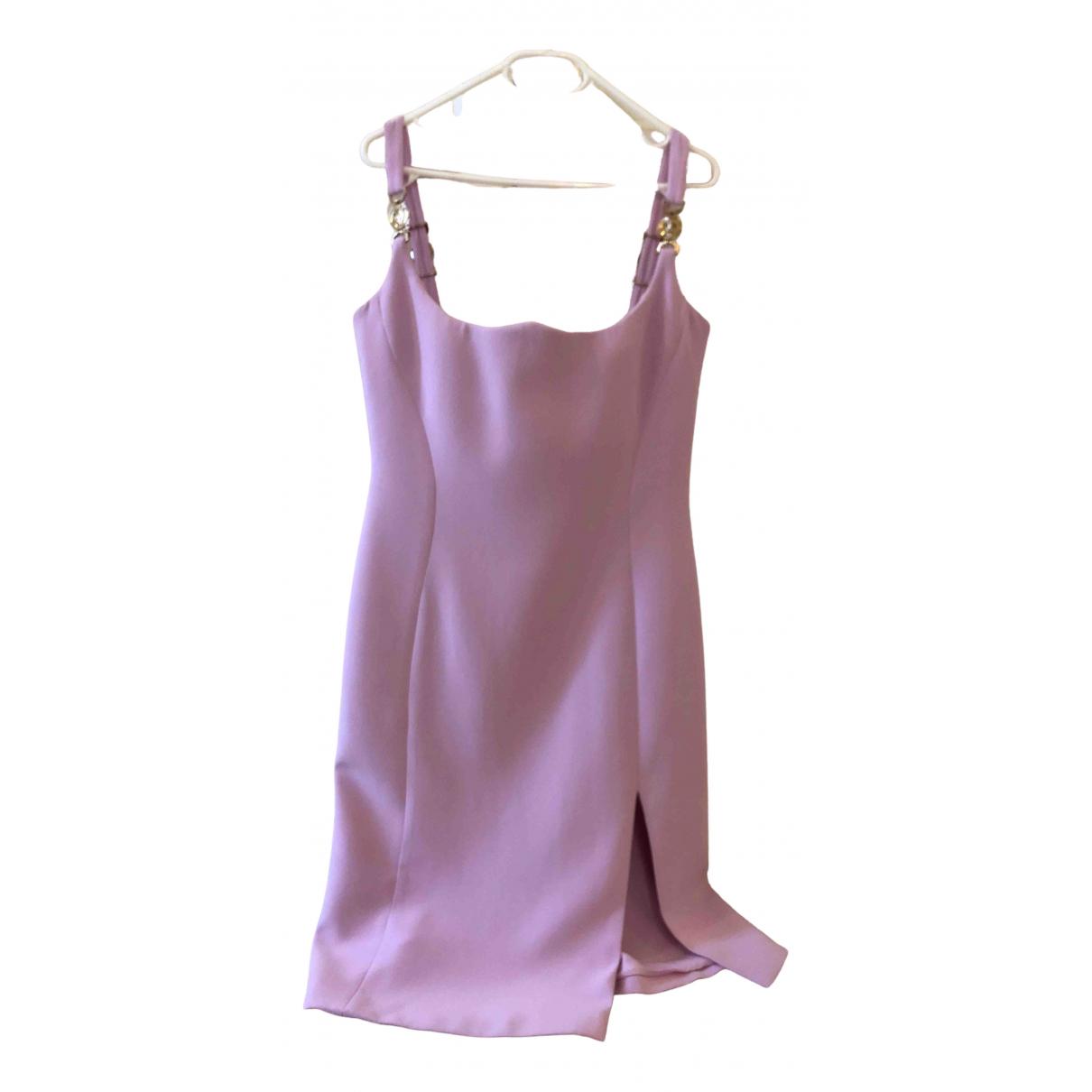 Vestido midi de Seda Versace