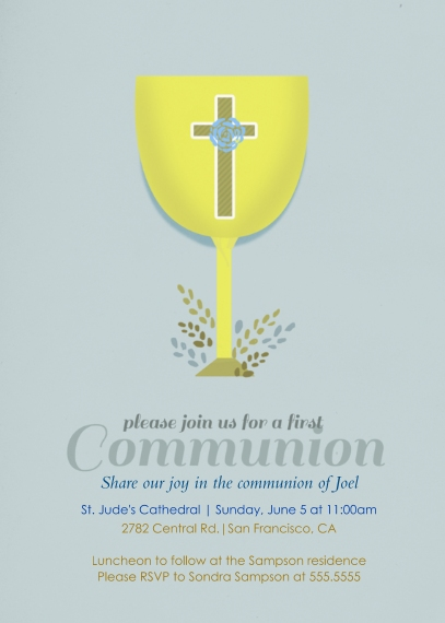 Communion Mail-for-Me Premium 5x7 Folded Card , Card & Stationery -Chalice First Communion