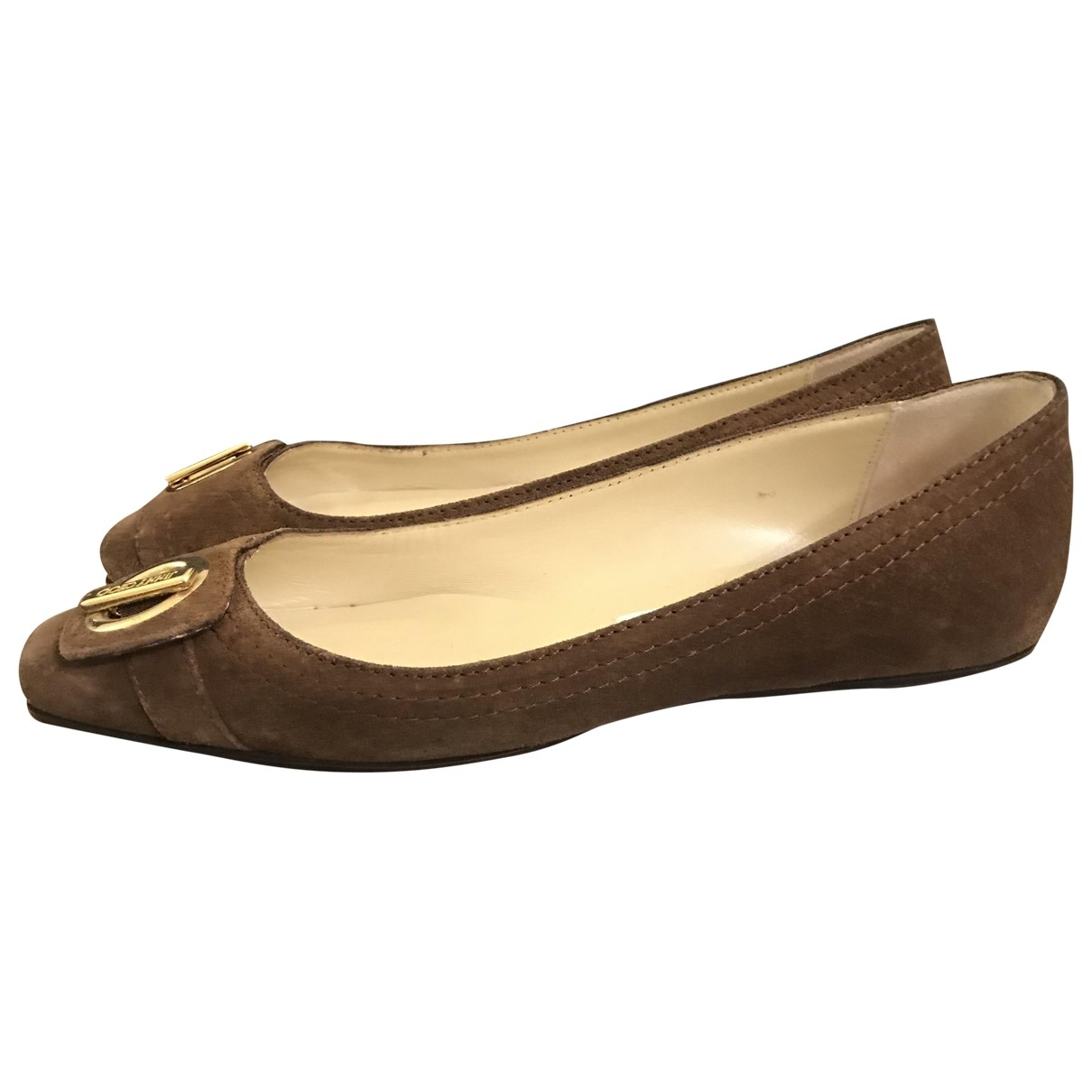 Jimmy Choo \N Brown Suede Ballet flats for Women 37 EU
