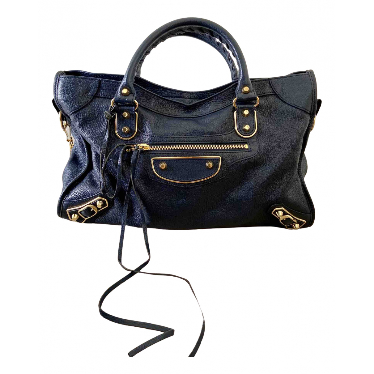 Balenciaga Classic Metalic Blue Leather handbag for Women \N