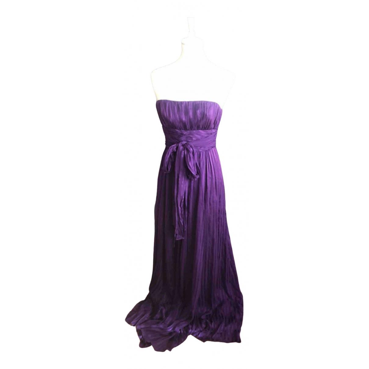 Bcbg Max Azria \N Kleid in  Lila Seide