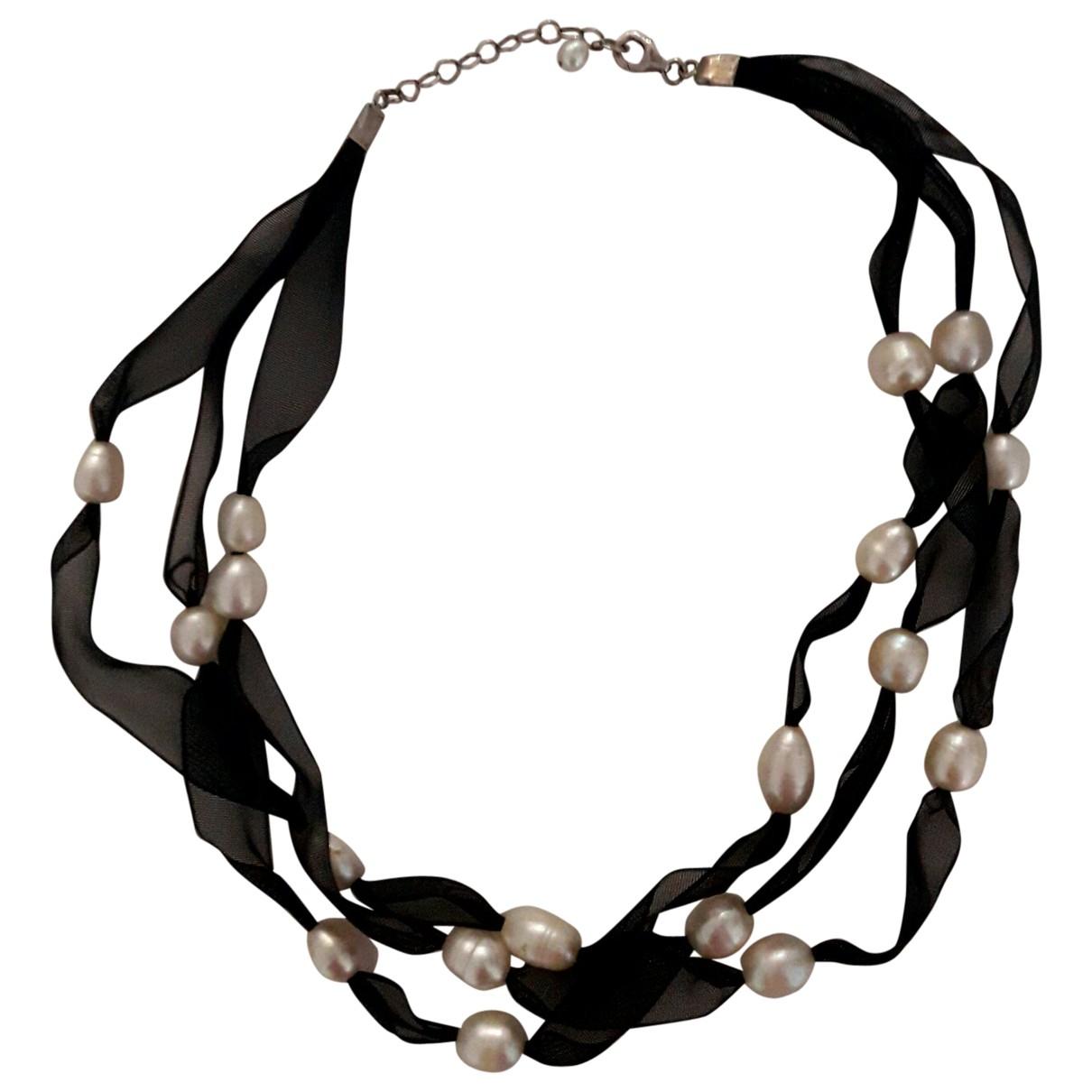 - Collier Nacre pour femme en perles - noir