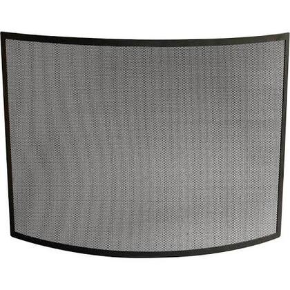 S-1042 Single Panel Curved Black Wrought Iron