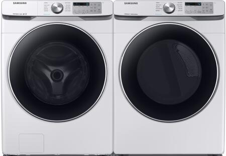 White Side By Side Front Load Laundry Pair with WF45T6200AW 27