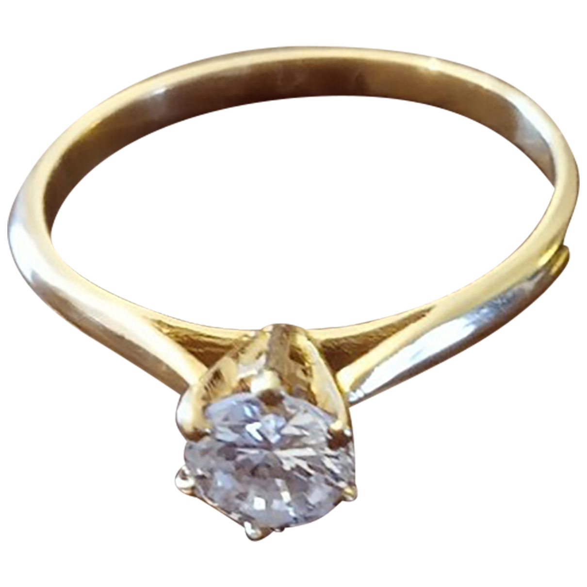 Non Signé / Unsigned Solitaire Yellow Yellow gold ring for Women 54 MM