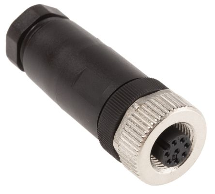 Binder Connector, 8 contacts Cable Mount M12 Socket, Screw IP67