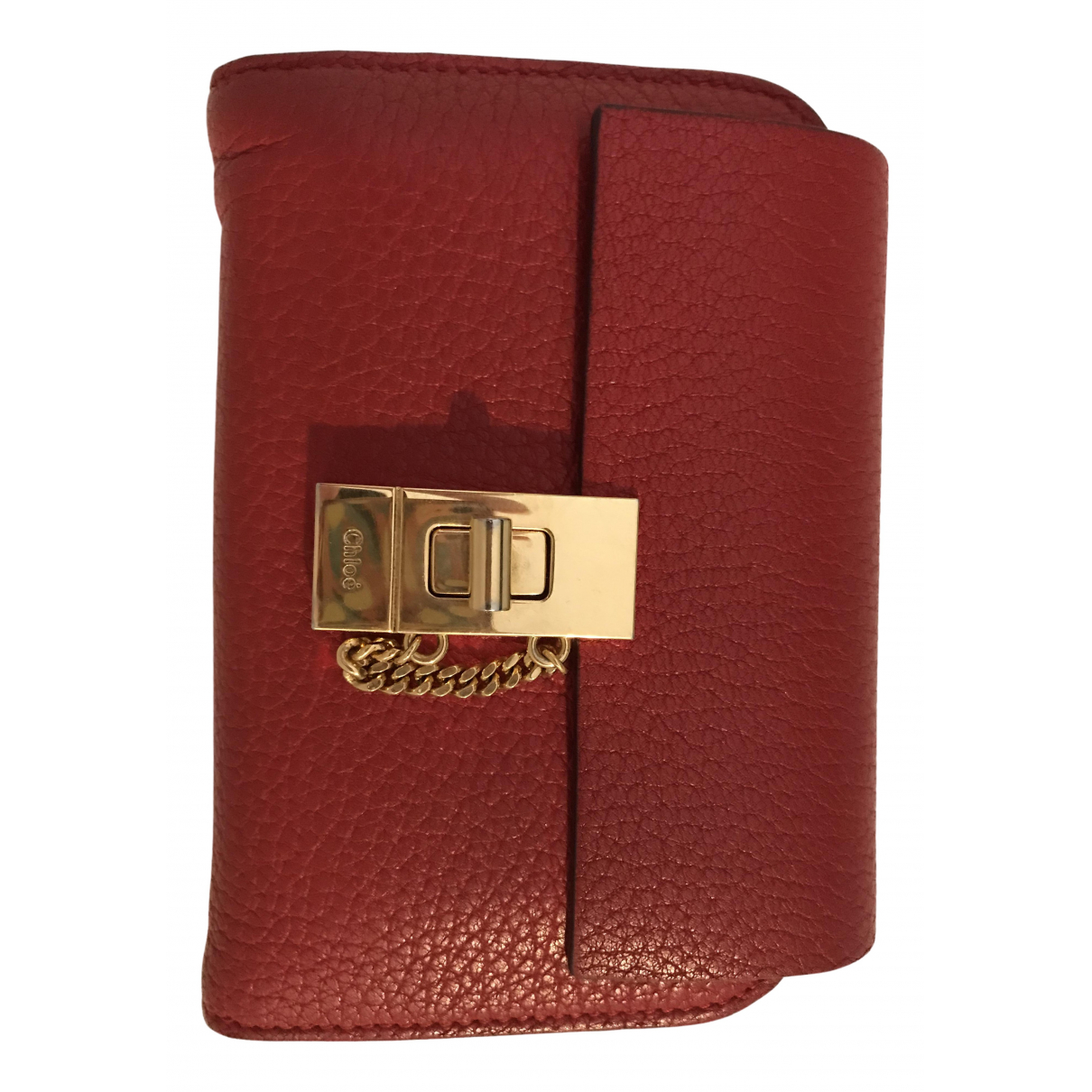 Chloé Drew Red Leather wallet for Women \N