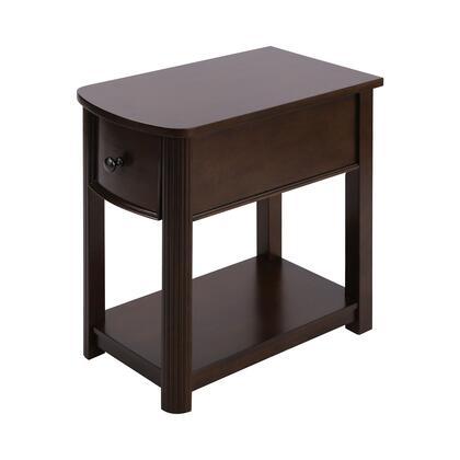 76346 Reaburn Accent Table  in Dark Cherry  Bronze