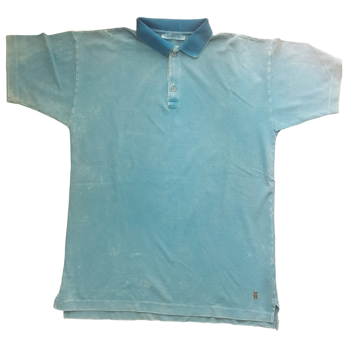 Balmain \N Turquoise Cotton Polo shirts for Men 48 IT