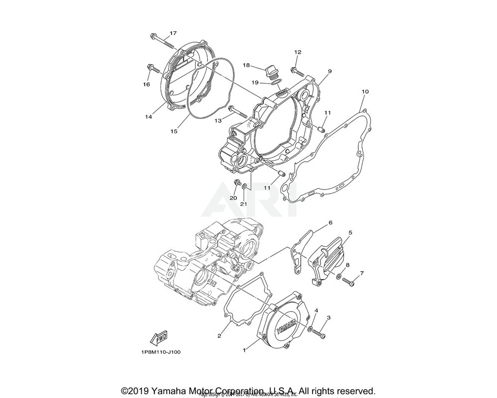 Yamaha OEM 5CU-15463-00-00 GASKET, COVER PINION 2 | (5NX1) INCL. IN CLUTCH PLATE KIT