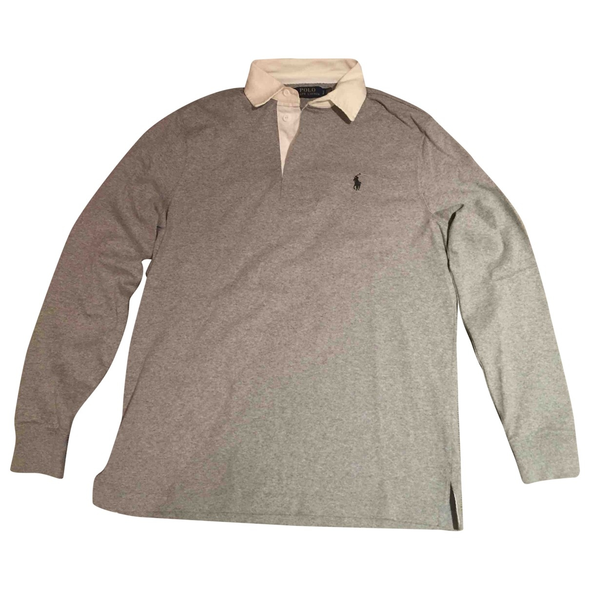 Polo Ralph Lauren Polo Rugby manches longues Poloshirts in  Grau Baumwolle