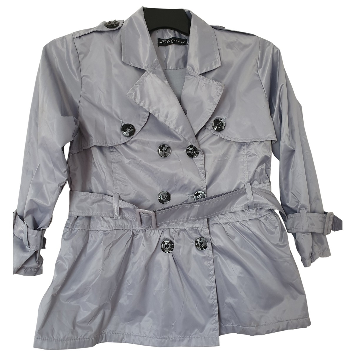 Non Signe / Unsigned \N Jacke, Maentel in  Grau Polyester