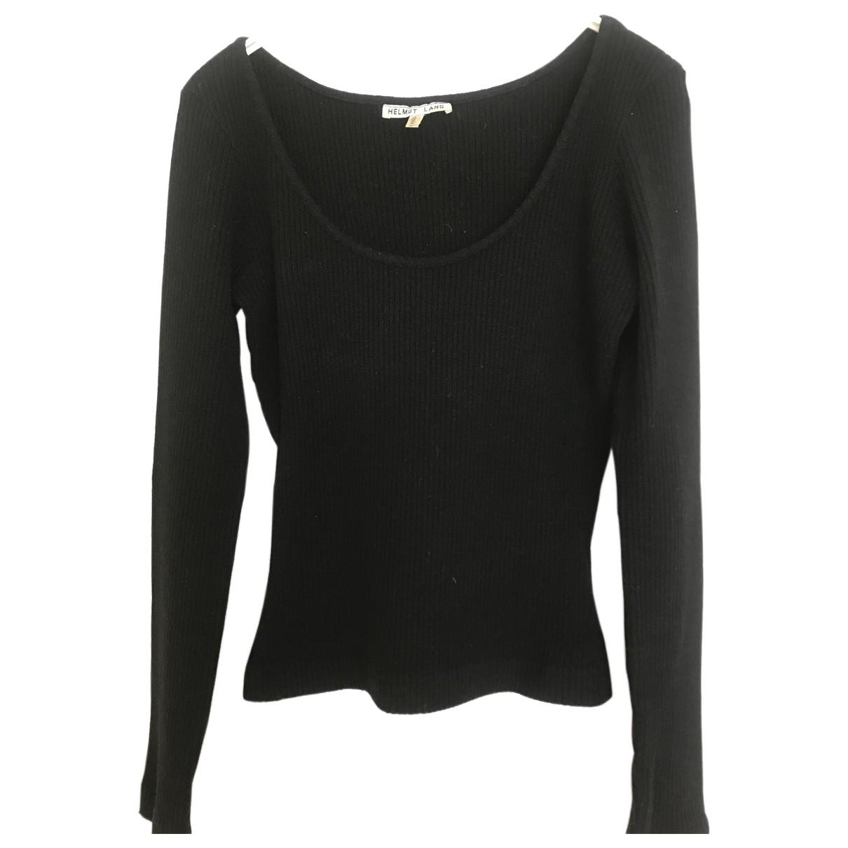 Helmut Lang N Black Wool Knitwear for Women 42 IT