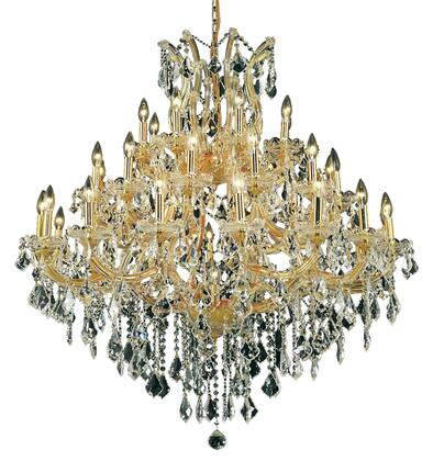 2800G44G/RC 2800 Maria Theresa Collection Large Hanging Fixture D44in H44in Lt: 36+1 Gold Finish (Royal Cut