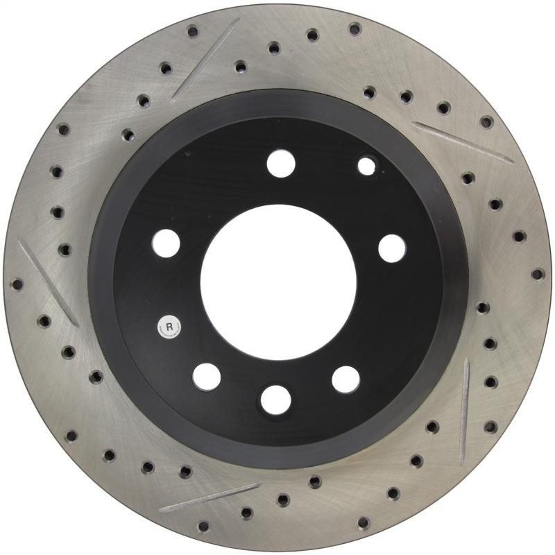 StopTech 127.33078R Sport Drilled/Slotted Brake Rotor;Front and Rear Right Rear Right