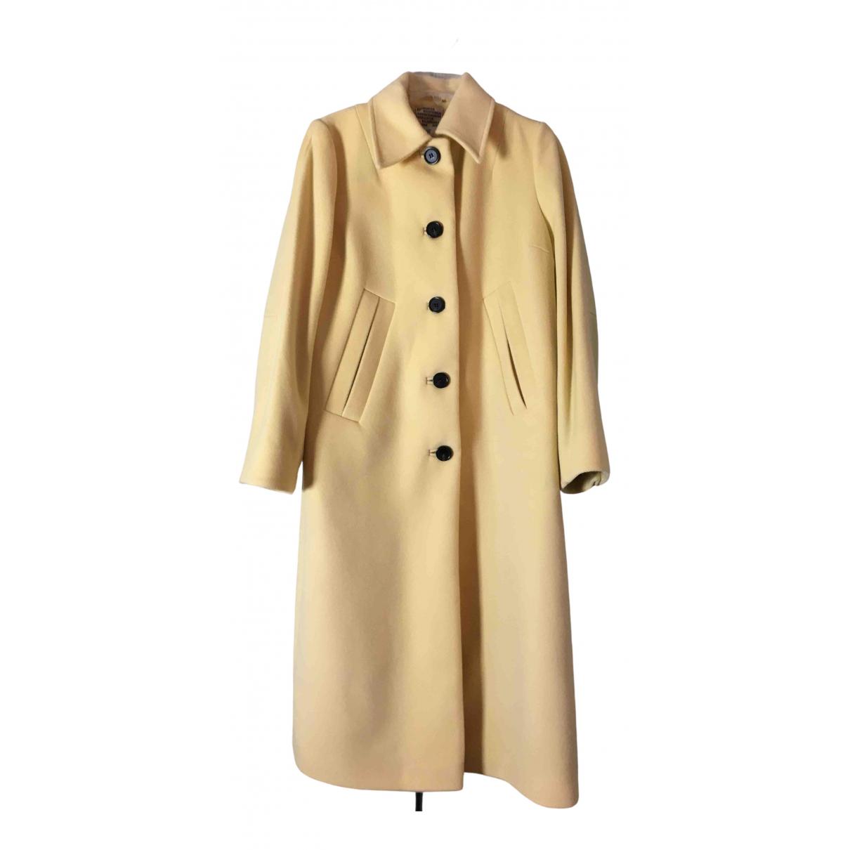 Baum Und Pferdgarten \N Yellow Wool coat for Women S International