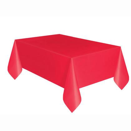 Rouge rubis Solide Rectangulaire en Plastique sur le Couvercle de la Table 54