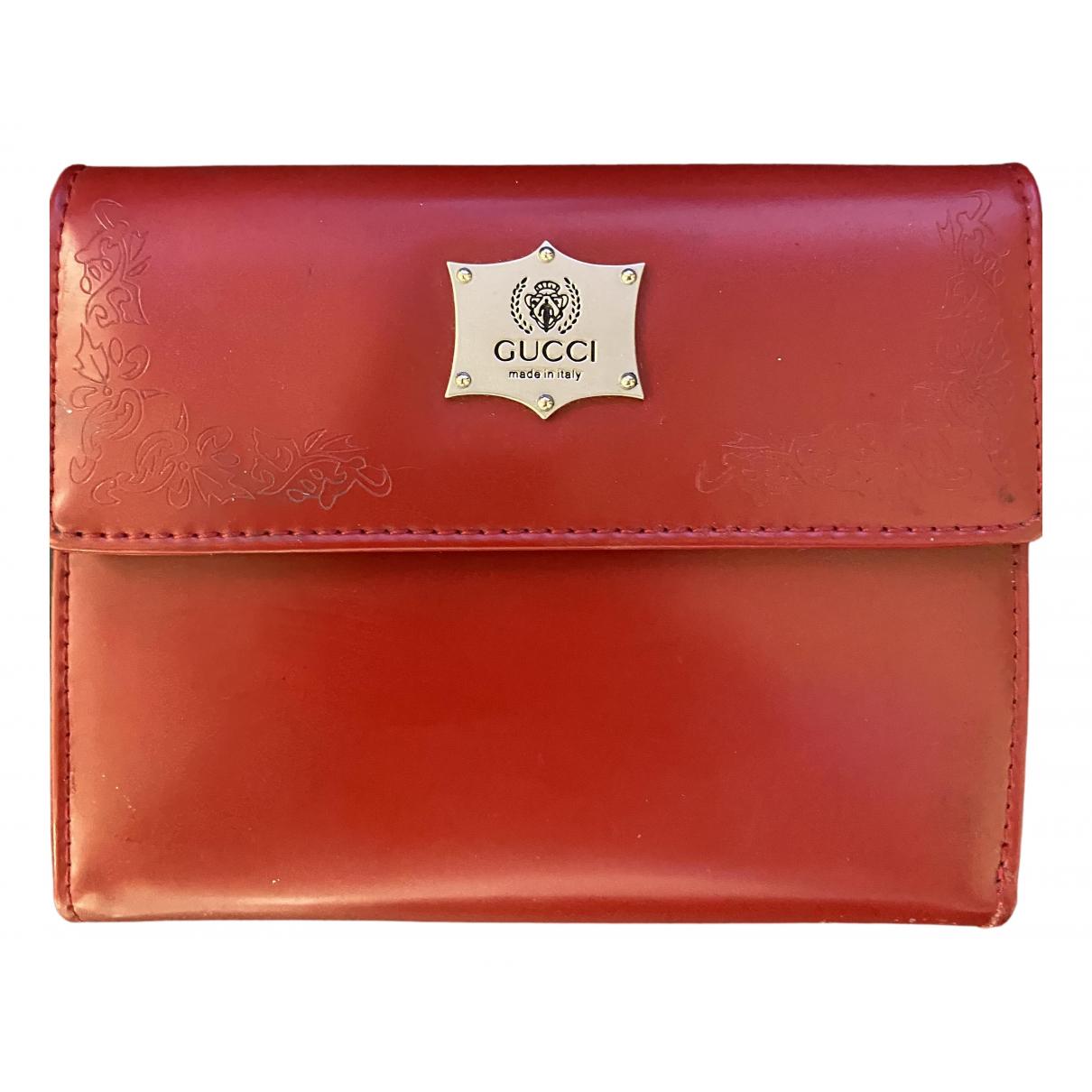 Gucci - Petite maroquinerie   pour femme en cuir - rouge