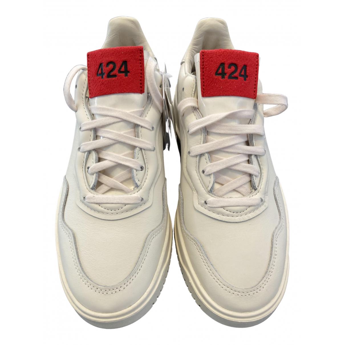 Adidas - Baskets   pour homme en cuir - ecru