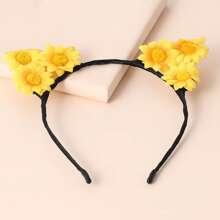 Haarreif mit Sonnenblumen Dekor