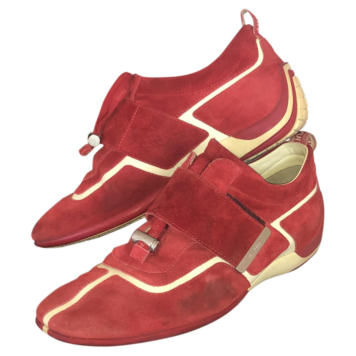 Louis Vuitton N Red Suede Flats for Men 42.5 EU