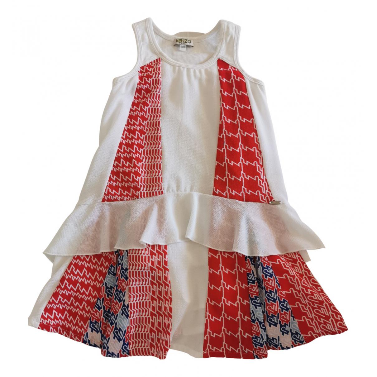Kenzo \N Kleid in  Weiss Polyester