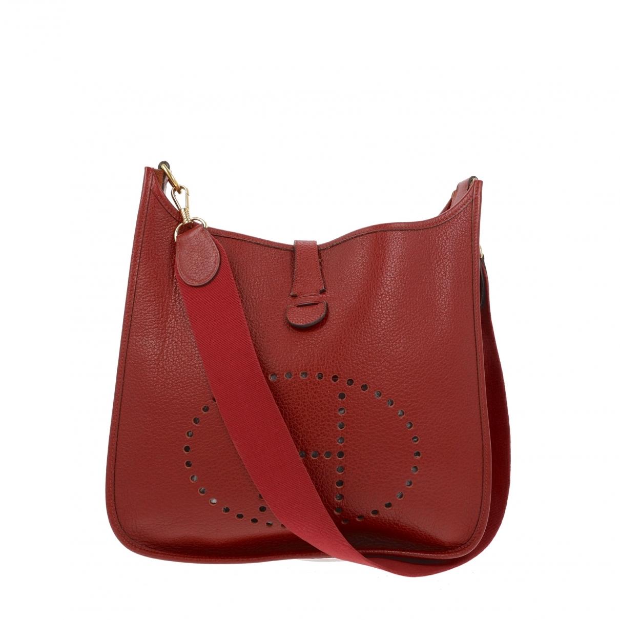 Hermès Evelyne Burgundy Leather handbag for Women \N