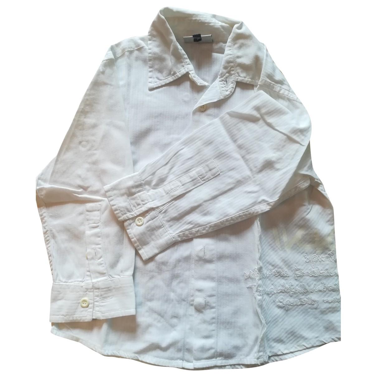 Ikks - Top   pour enfant en coton - blanc