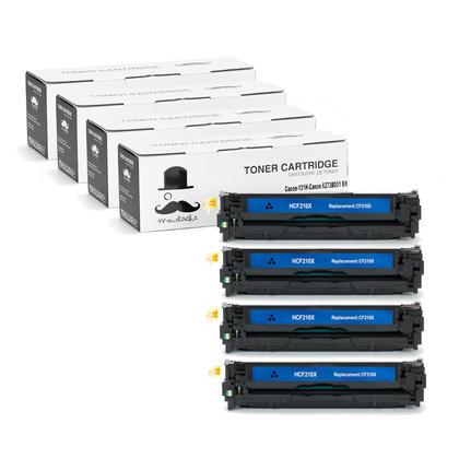 Compatible Canon 131H 6273B001AA Black Toner Cartridge High Yield - Moustache@ - 4/Pack